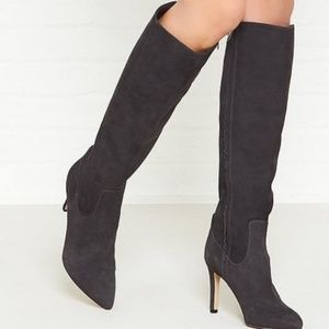Sam Edelman Olencia Suede Knee High Leather Boots